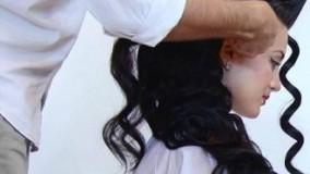 فیلم  آموزش گام به گام شینیون باز مو + آرایش مو مجلسی