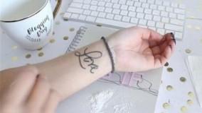کلیپ آموزش تاتو ضد آب + تاتو موقت روی دست
