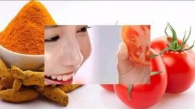 کلیپ آموزش سفید کردن پوست با ماسک گوجه فرنگی
