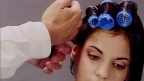 کلیپ آموزش آرایش مو کوتاه + حالت دادن مو با بیگودی