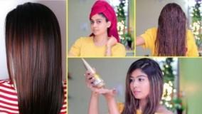 کلیپ آموزش استفاه از ماسک مو براق کننده مو در خانه