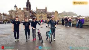 میکس آهنگ ایریدیم گات تلنت و رقابت جذاب پارکورکاران و دوچرخه سواران در ادینبورگ اسکاتلند