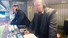 ری اکشن خنده دار گزارشگر تیم لیورپول هنگام پیروزی مقابل بارسلونا
