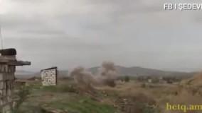 تصاویری نزدیک از حمله سنگین جمهوری آذربایجان به مواضع ارتش ارمنستان