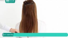 روش اتصال مو به روش لاینی با استفاده از چسب حرارتی