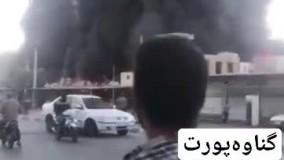 بازار ساحلی بندر دیلم بوشهر در آتش سوخت