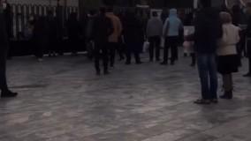 """حضور مردم از ساعاتی پیش از  تشییع """"استاد شجریان"""" در آرامگاه فردوسی"""