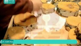 آموزش به کار بردن تنه درخت همراه با رزین اپوکسی در ساخت میز ناهارخوری