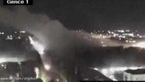 تصاویر حملهی راکتی ارمنستان به شهر گنجه جمهوری آذربایجان