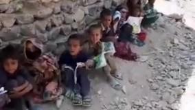کلاس درسی  زیر آسمون خدا در سیستان وبلوچستان ، این بچه ها روی خاک میشینن درس میخونن !