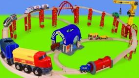 اسباب بازی های قطار کامیون آتش نشانی ، تراکتور ، ماشین پلیس
