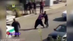 مبارزه یک مامور پلیس ایران با شرور قمه کش