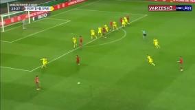 خلاصه بازی پرتغال ۳ - سوئد ۰