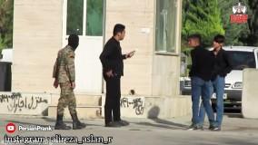 دوربین مخفی ایرانی خنده دار ؛  دستگیری فرد مبتلا به کرونا