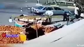 سرقت عجیب پراید در حضور راننده