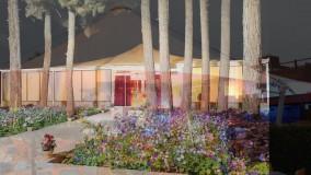 سقف چادری حیاط کافه رستوران- سایبان چادری خیمه ای رستوران بام مجتمع تجاری