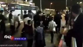 رد شدن پلیس اسرائیل از روی معترضان صهیونیست