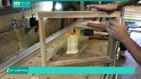 ساخت میز مربعی شکل پایه دار با رزین اپوکسی