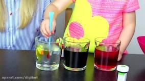 رنگ آمیزی و نقاشی روی تخم مرغ ؛  بازی گبی و الکس با مامانی