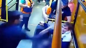 دعوای وحشتناک 2 نفر در متروی روسیه