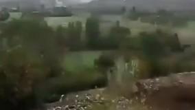 فیلم درگیری شدید بین نیروهای جمهوری آذربایجان و ارمنستان در نزدیکی مرز ایران