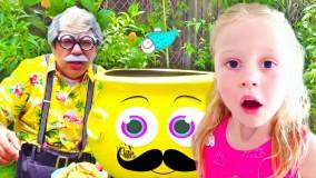 ناستیا و بابایی ؛  تعطیلات سرگرم کننده ناستیا با پدربزرگ