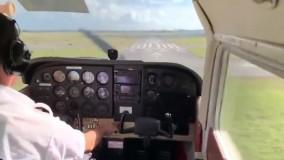 فیلم دلهره آور خروج هواپیما از باند
