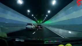 عاقبت هولناک کورس 2 خودرو در تونل