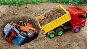 ماشین بازی ، اسباب بازی کودکانه ؛  نجات کامیون و جرثقیل