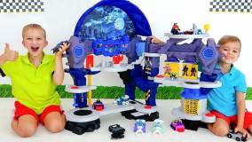 ولاد و نیکی ؛  بازی و جعبه گشایی اسباب بازی جدید لگوها Batcave