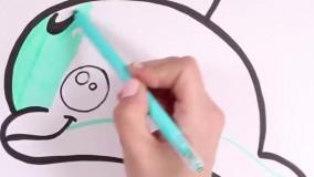 آموزش نقاشی به کودکان : دلفین