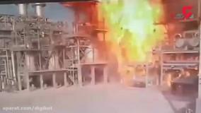 وحشتناک ترین فیلم از آتش سوزی پتروشیمی بندر امام