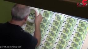 مراحل چاپ اسکناس یورو