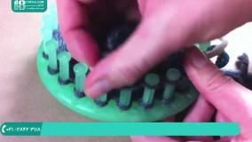 مراحل بافت دستکش دخترانه با قلاب ( دستکش بدون انگشت )