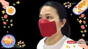 آموزش دوخت ماسک کاپ دار برای افرادی که بینی بلند دارند