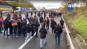 حمله ترکها با چکش و چاقو به تظاهرکنندگان ارمنی در فرانسه