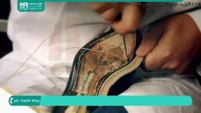 مراحل دوخت کفش چرم مدل کلاسیک مردانه ( دست دوز )