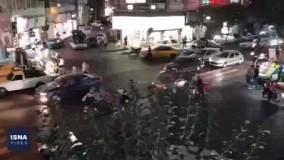 شادی خیابانی هواداران پرسپولیس پس از صعود به فینال آسیا