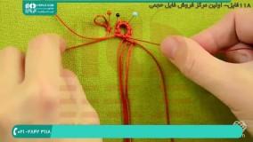 آموزش بافت دستبند مکرومه دخترانه طرح زیگزاگی