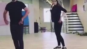 تمرین تئاتر جنجالی بهنوش طباطبایی به شیوه رقص