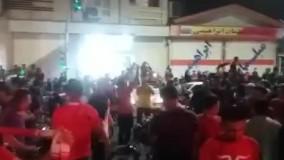 شادی مردم اندیمشک پس از فینالیست شدن پرسپولیس در لیگ قهرمانان آسیا