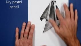 آموزش نقاشی سه بعدی شبح