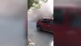 فیلمی دیگر از فرو ریختن ساختمان در ازمیر ترکیه