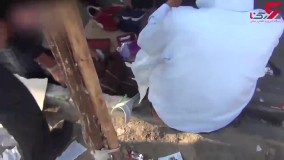 فیلم لحظه به لحظه حمله به دخمه دزدان در مولوی تهران