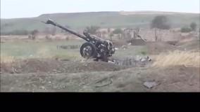 تصاویری از یک موضع توپخانه ای ارمنستان که توسط ارتش آذربایجان تصرف شد