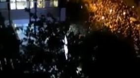 شعار مردم تجمع کننده مقابل بیمارستان جم تهران محل درگذشت شجریان