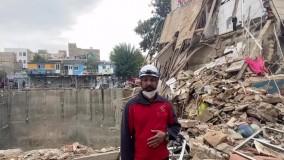 ریزش آوار در منطقه ۱۷ تهران