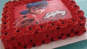 کیک ارایی و تزیین کیک »» تم لیدی باگ
