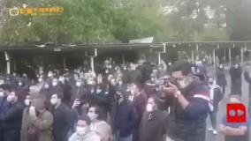حضور جمعی از مردم در بهشت زهرا(س) برای بدرقه با استاد محمدرضا شجریان