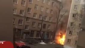 فیلم لحظه انفجار مرگبار یک خانه دانشجویی و مرگ ۲ دانشجو